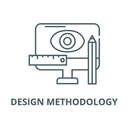 Design methodology line icon, vector. Design methodology outline sign, concept symbol, illustration