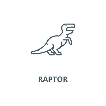 Dinosaur,raptor,tyrannosaurus  line icon, vector. Dinosaur,raptor,tyrannosaurus  outline sign, concept symbol, illustration