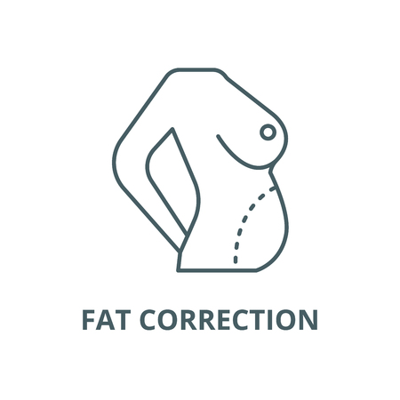 Diet body,fat correction,belly line icon, vector. Diet body,fat correction,belly outline sign, concept symbol, illustration