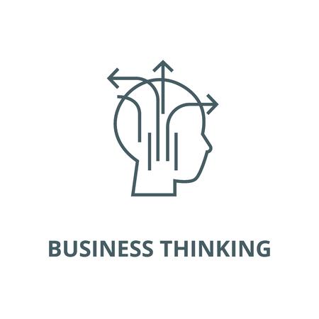 Different business thinking line icon, vector. Different business thinking outline sign, concept symbol, illustration 일러스트