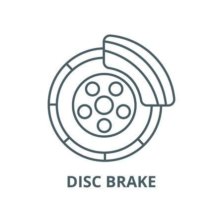 Disc brake,car service line icon, vector. Disc brake,car service outline sign, concept symbol, illustration