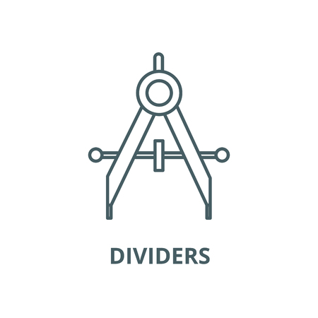 Dividers line icon, vector. Dividers outline sign, concept symbol, illustration