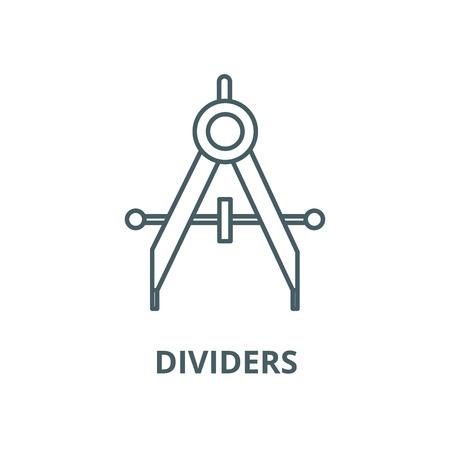 Dividers line icon, vector. Dividers outline sign, concept symbol, illustration