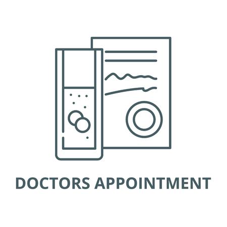 Doctors appointment line icon, vector. Doctors appointment outline sign, concept symbol, illustration Banque d'images - 123716071