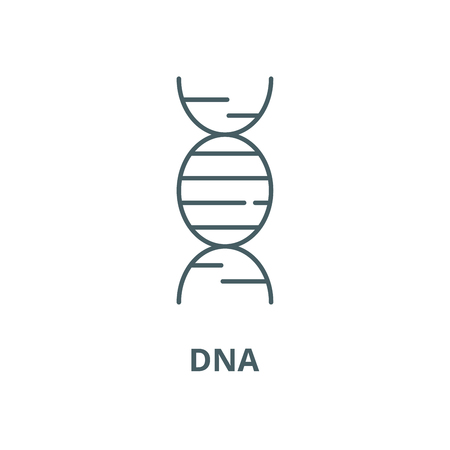 Dna line icon, vector. Dna outline sign, concept symbol, illustration