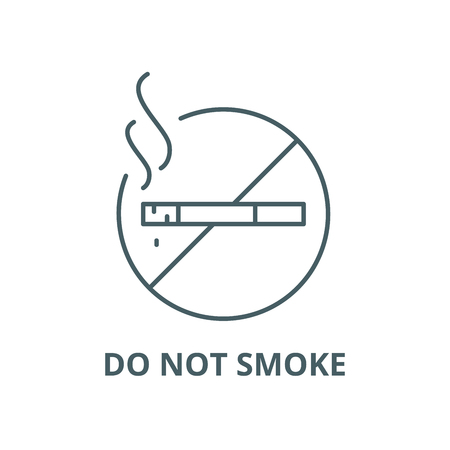 Do not smoke line icon, vector. Do not smoke outline sign, concept symbol, illustration Illustration