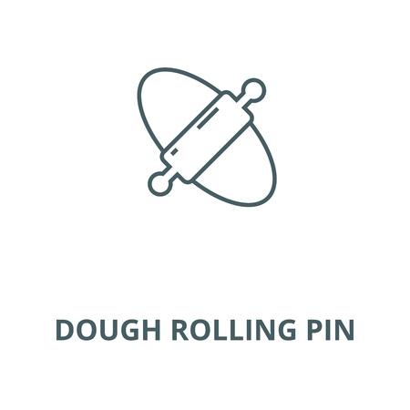 Dough rolling pin line icon, vector. Dough rolling pin outline sign, concept symbol, illustration Foto de archivo - 120715895