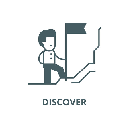 Discoverer line icon, vector. Discoverer outline sign, concept symbol, illustration