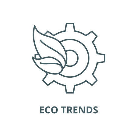 Eco trends line icon, vector. Eco trends outline sign, concept symbol, illustration