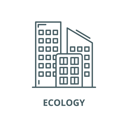 Ecology line icon, vector. Ecology outline sign, concept symbol, illustration