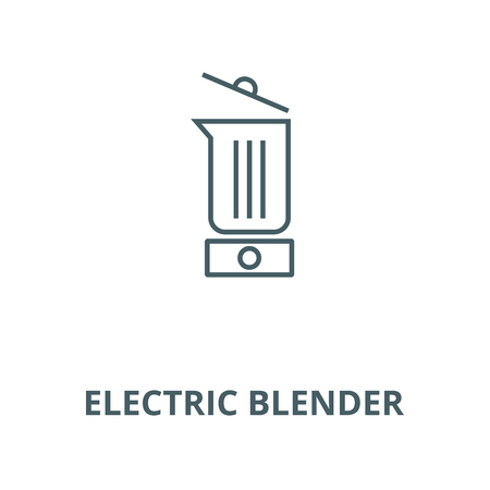 Electric blender line icon, vector. Electric blender outline sign, concept symbol, illustration Illustration