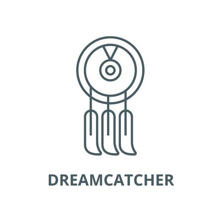 Dreamcatcher line icon, vector. Dreamcatcher outline sign, concept symbol, illustration