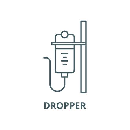 Dropper line icon, vector. Dropper outline sign, concept symbol, illustration Stock Illustratie