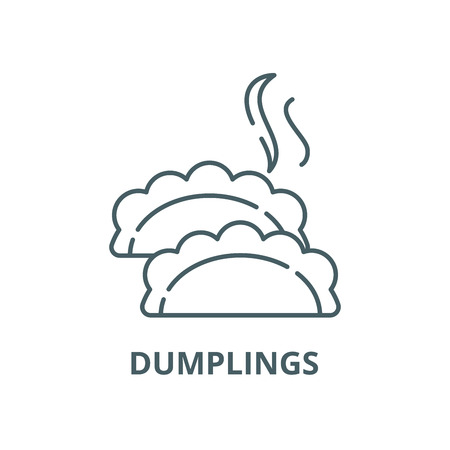 Dumplings line icon, vector. Dumplings outline sign, concept symbol, illustration