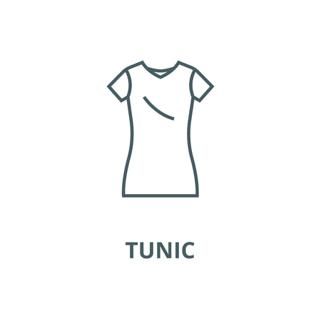 Dress tunic,long skirt line icon, vector. Dress tunic,long skirt outline sign, concept symbol, illustration Ilustrace