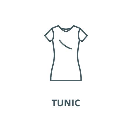 Dress tunic,long skirt line icon, vector. Dress tunic,long skirt outline sign, concept symbol, illustration Illustration