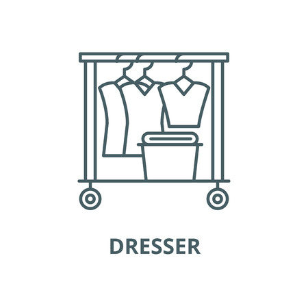 Dresser line icon, vector. Dresser outline sign, concept symbol, illustration