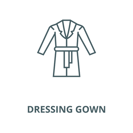 Dressing gown line icon, vector. Dressing gown outline sign, concept symbol, illustration