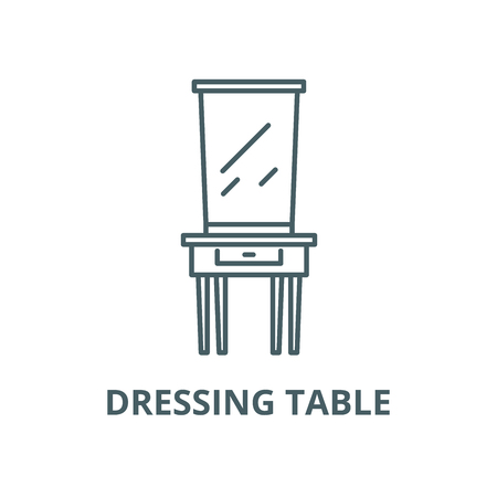 Dressing table line icon, vector. Dressing table outline sign, concept symbol, illustration Stock Illustratie