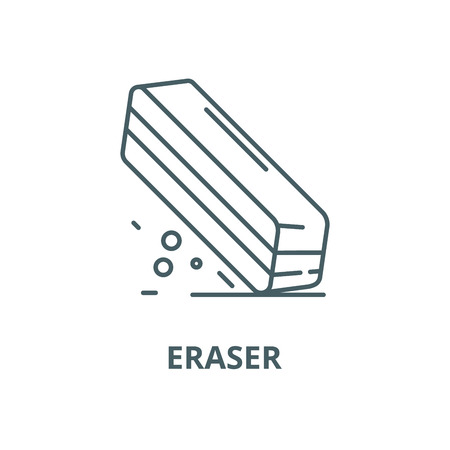 Eraser line icon, vector. Eraser outline sign, concept symbol, illustration Stock Illustratie