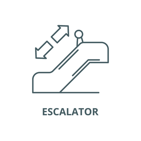 Escalator line icon, vector. Escalator outline sign, concept symbol, illustration