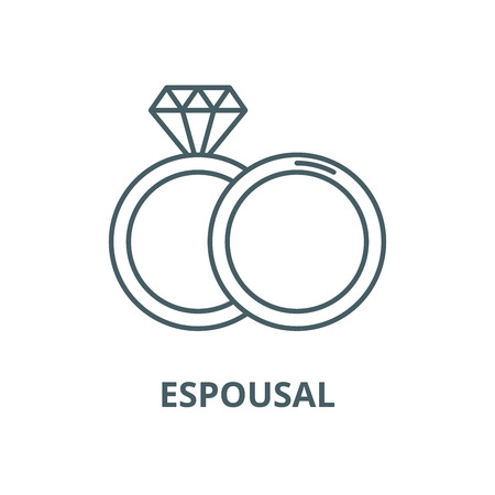 Espousal line icon, vector. Espousal outline sign, concept symbol, illustration