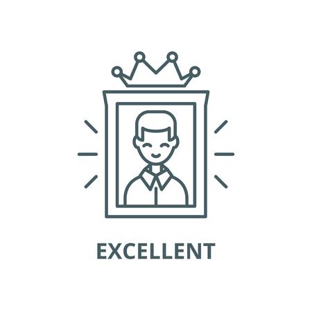 Excellent line icon, vector. Excellent outline sign, concept symbol, illustration