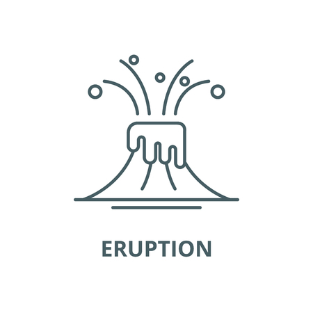 Eruption line icon, vector. Eruption outline sign, concept symbol, illustration Stok Fotoğraf - 123716170