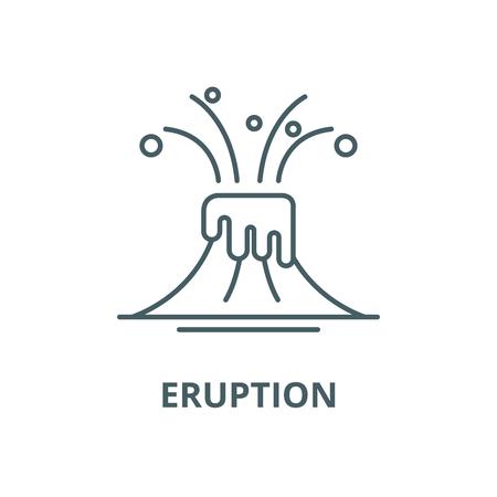 Eruption line icon, vector. Eruption outline sign, concept symbol, illustration