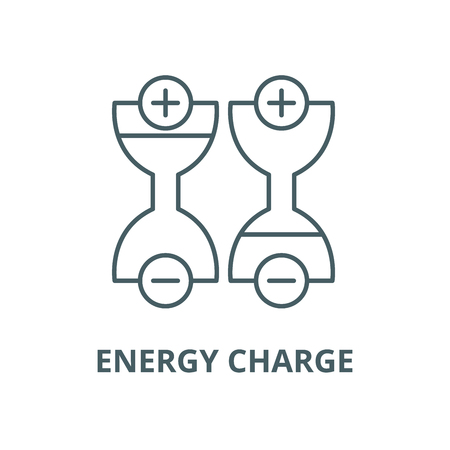 Energy charge line icon, vector. Energy charge outline sign, concept symbol, illustration