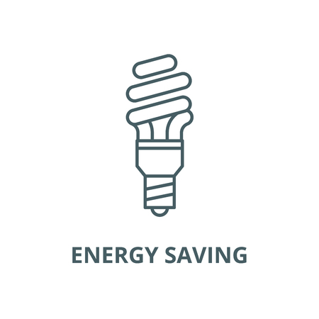 Energy saving line icon, vector. Energy saving outline sign, concept symbol, illustration Standard-Bild - 123716181