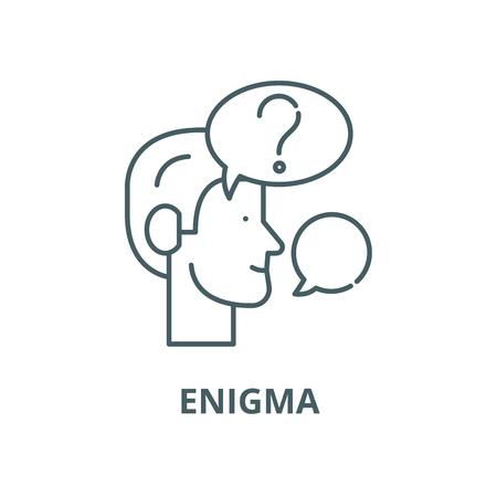 Enigma line icon, vector. Enigma outline sign, concept symbol, illustration