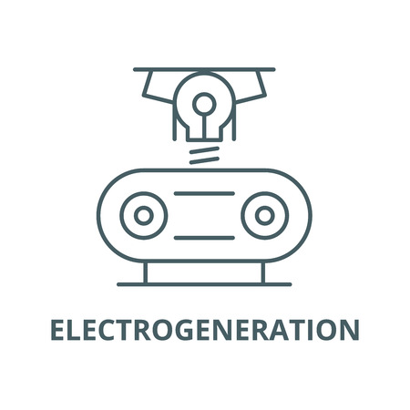 Electrogeneration line icon, vector. Electrogeneration outline sign, concept symbol, illustration