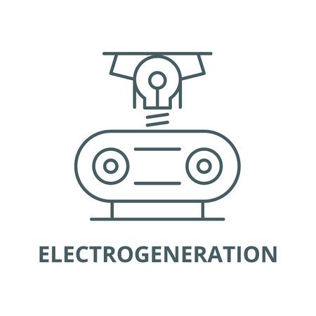 Electrogeneration line icon, vector. Electrogeneration outline sign, concept symbol, illustration