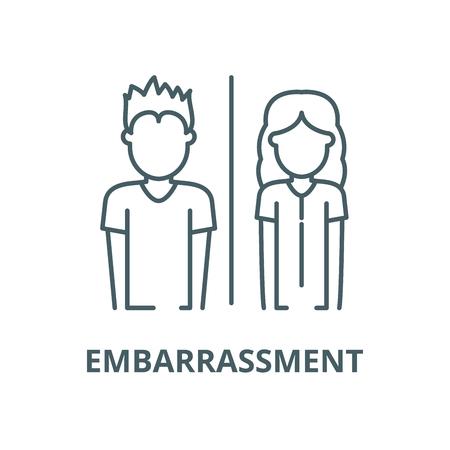Icône de ligne d'embarras, vecteur. Signe de contour d'embarras, symbole de concept, illustration Vecteurs