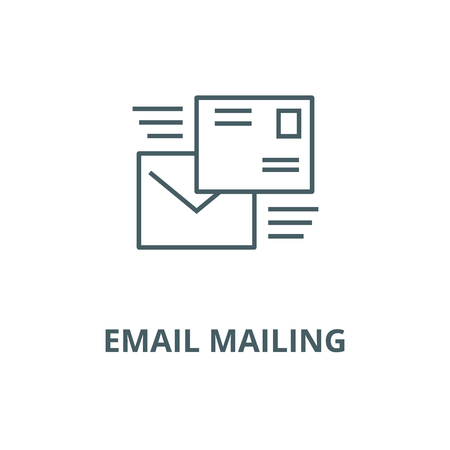 Email mailing line icon, vector. Email mailing outline sign, concept symbol, illustration