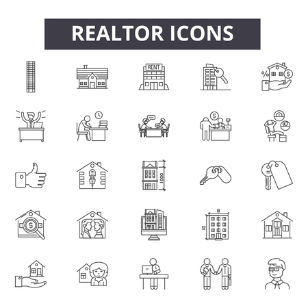 line icons, signs set, vector.