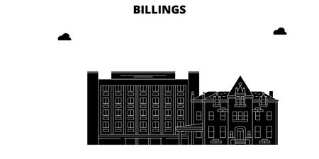 Billings , United States, outline travel skyline vector illustration 일러스트