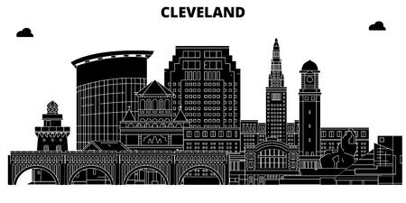 Cleveland , United States, outline travel skyline vector illustration