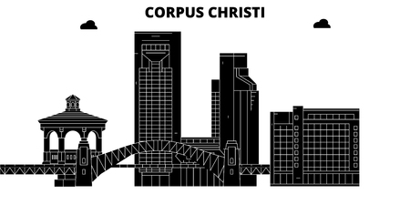 Corpus Christi , United States, outline travel skyline vector illustration.