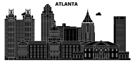 Atlanta , United States, outline travel skyline vector illustration 일러스트