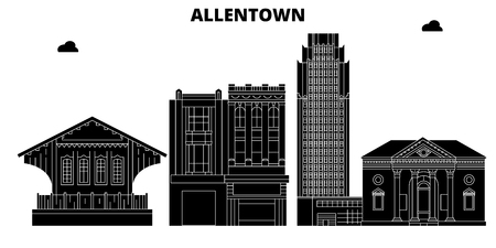 Allentown , United States, outline travel skyline vector illustration