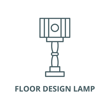 Floor design lamp vector line icon, outline concept, linear sign