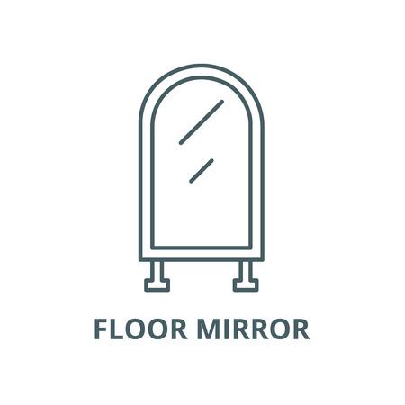 Floor mirror vector line icon, outline concept, linear sign