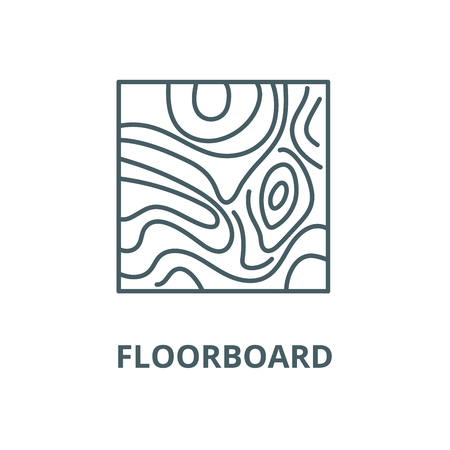 Floorboard vector line icon, outline concept, linear sign