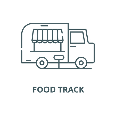 Food track vector line icon, outline concept, linear sign