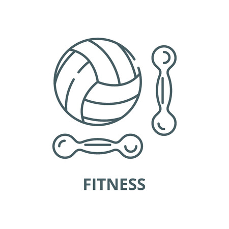 Fitness vector line icon, outline concept, linear sign Illustration