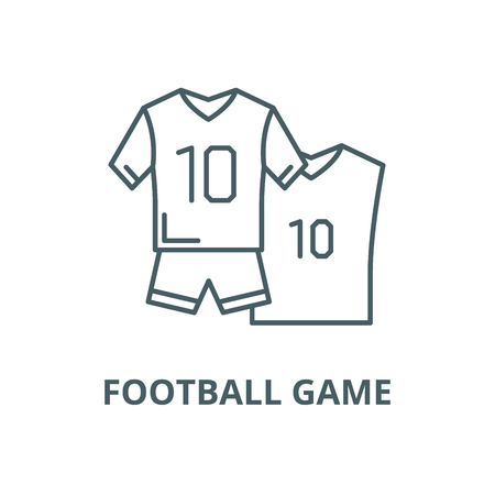 Football game vector line icon, outline concept, linear sign Ilustração