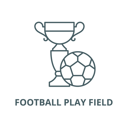 Football play field  vector line icon, outline concept, linear sign