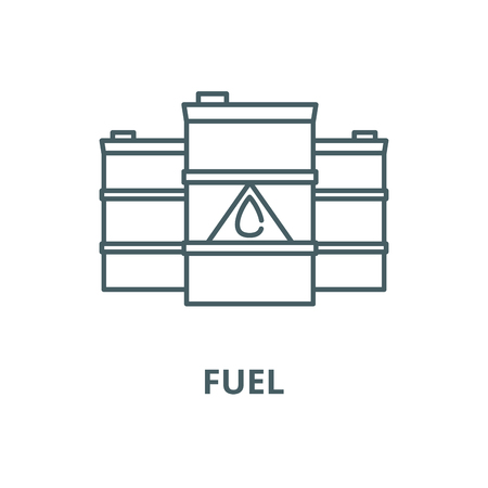 Fuel vector line icon, outline concept, linear sign Stock Illustratie